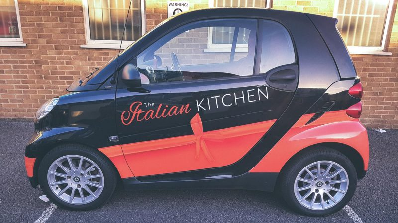 Portfolio - The Italian Kitchen - Smart Car Wrap
