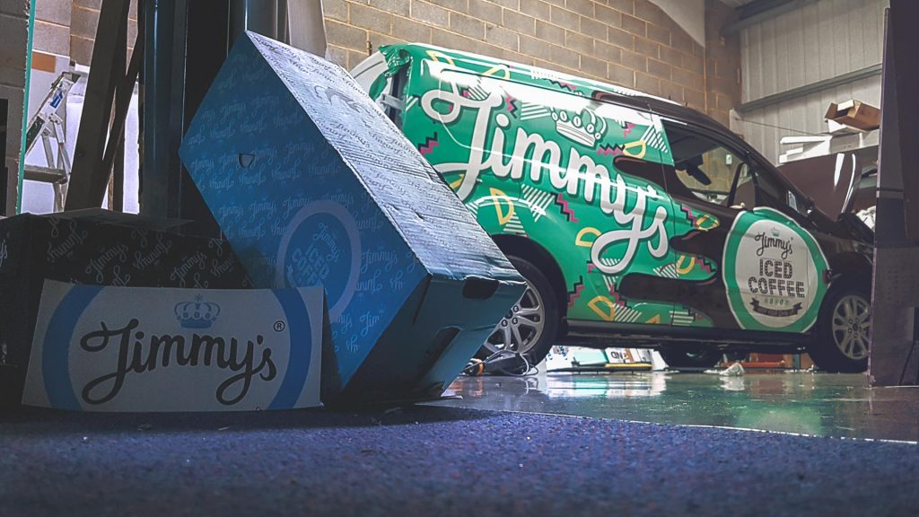 Portfolio - Jimmy's Iced Coffee Green Van Wrap - After Photo