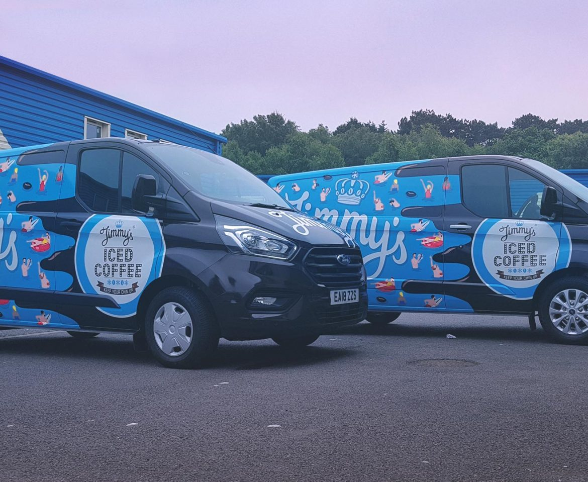 Portfolio - Jimmy's Iced Coffee Vans - Vehicle Wrap