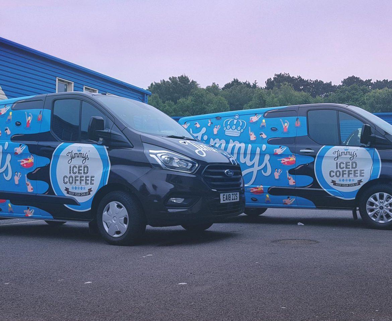 Portfolio - Jimmy's Iced Coffee Vans - Vehicle Wrap