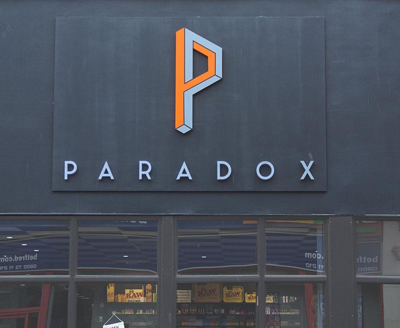 Portfolio - Paradox - Shop Sign