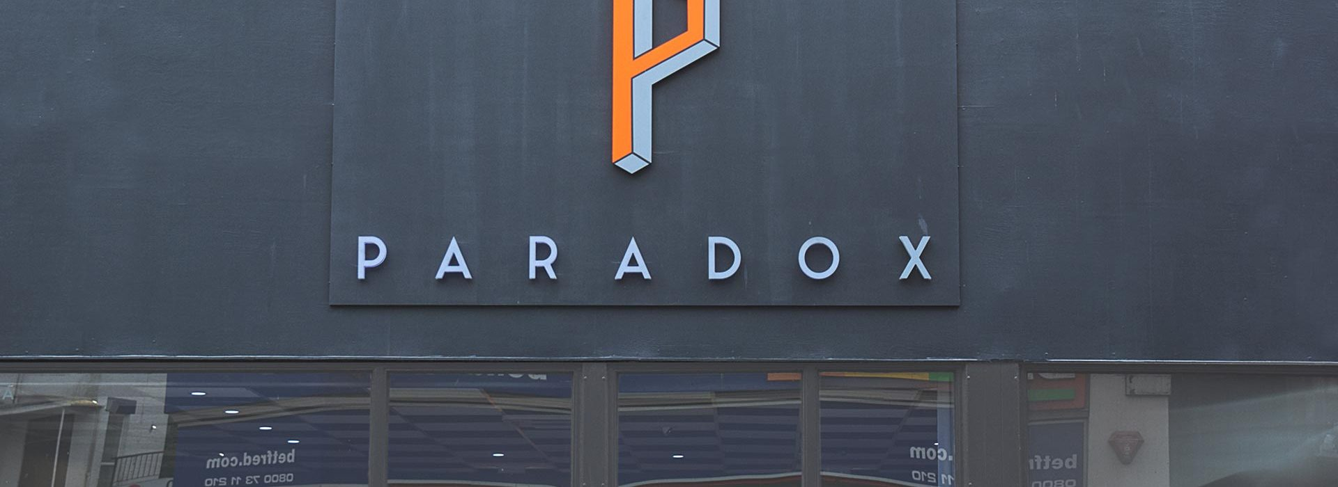 Portfolio - Paradox - Shop Sign