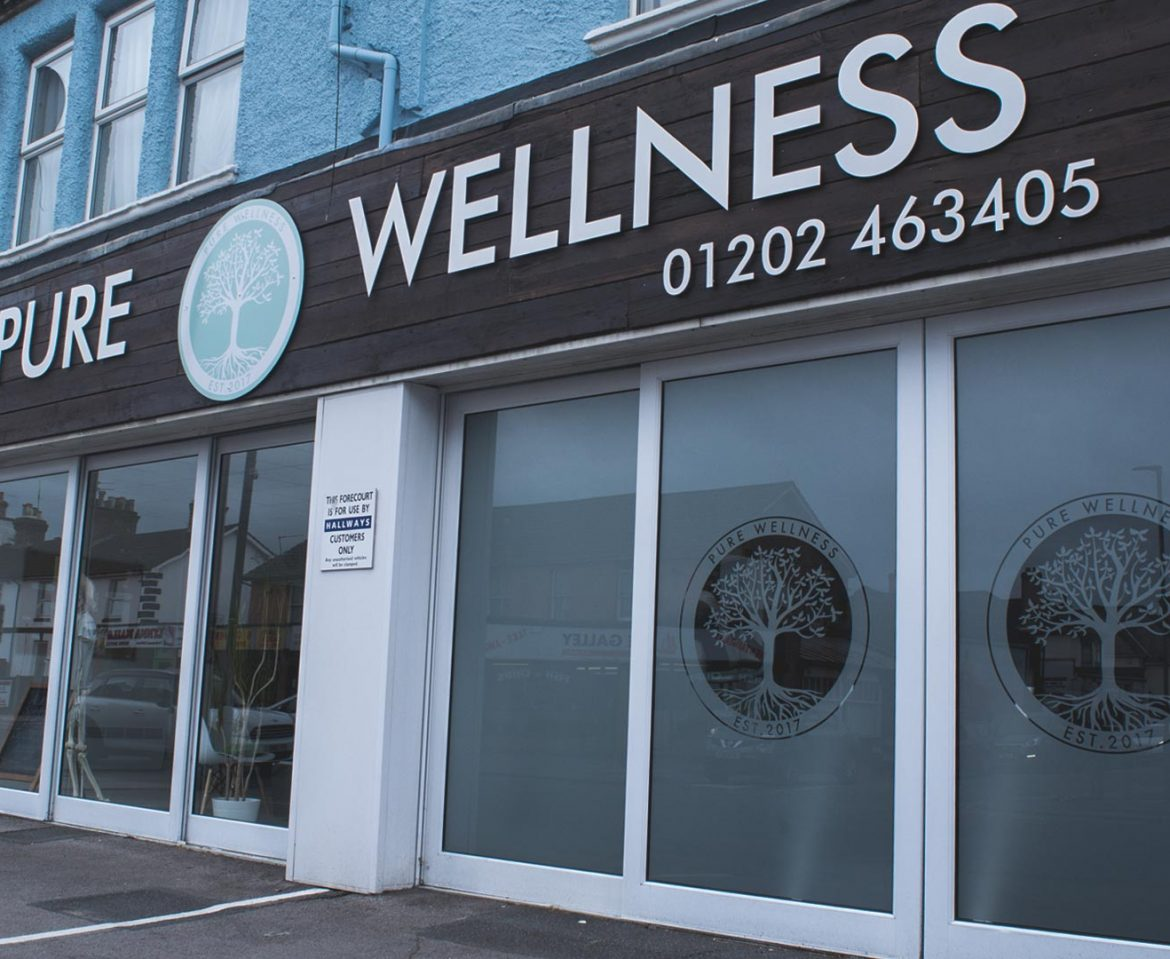 Pure Wellness Shop Sign