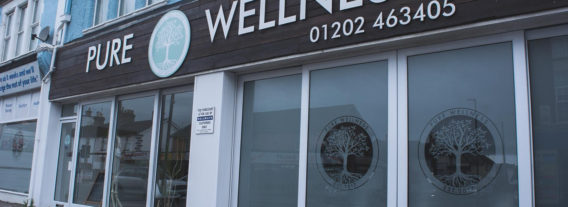 Portfolio - Pure Wellness - Shop Sign