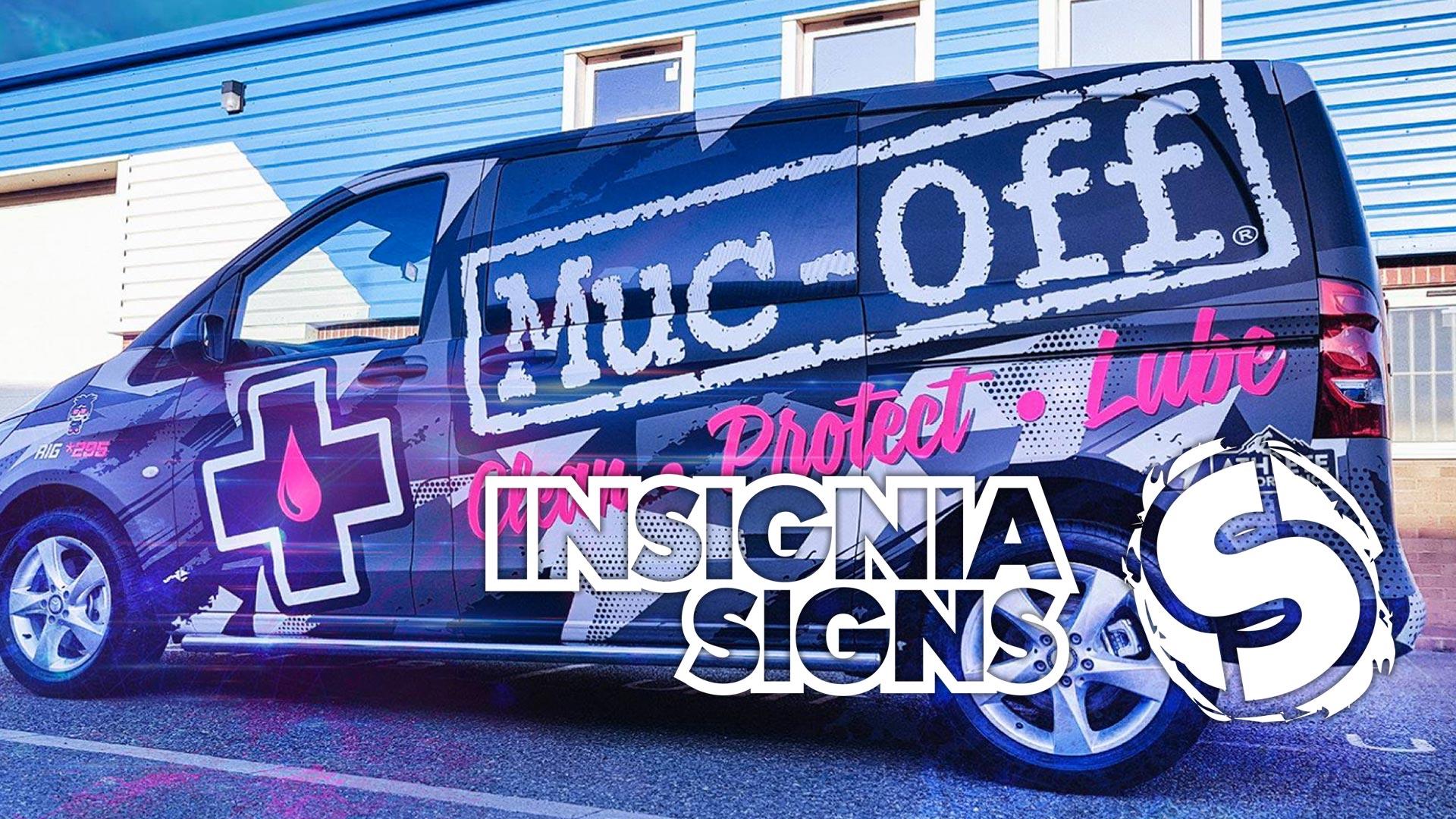 Insignia Signs - Sign Work - Muc-Off Van