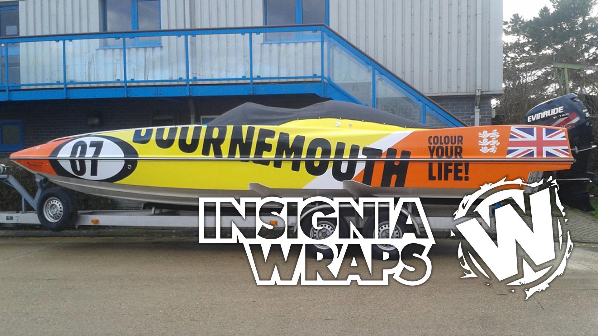 Insignia Wraps - Wraps Work - Boat