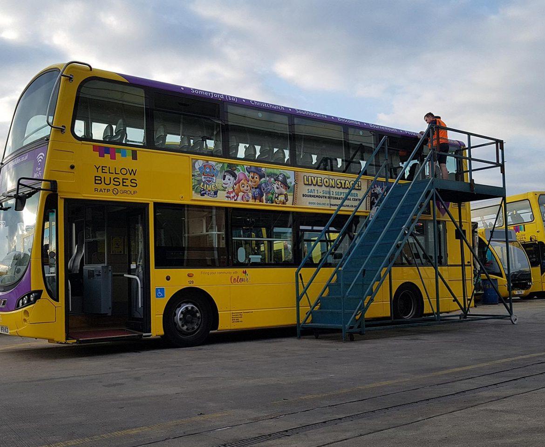 Portfolio - Yellow Buses - Bus Wrap