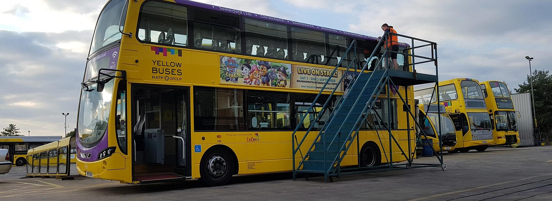 Portfolio - Yellow Buses - Bus Wrap