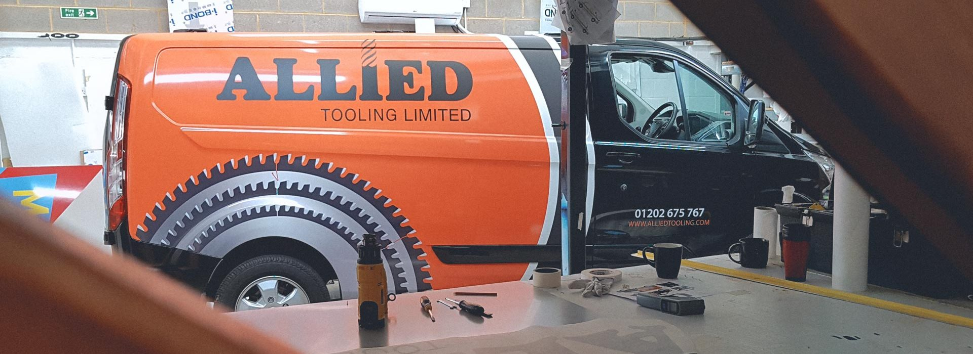 Portfolio - Allied Tooling Ltd Van - Vehicle Wrap