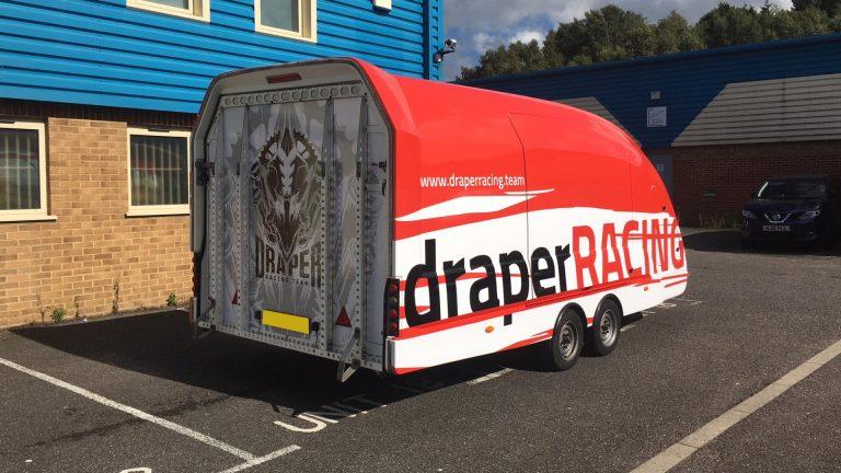 Draper Racing Trailer Vehicle Wrap - Insignia Signs Portfolio Poole Bournemouth
