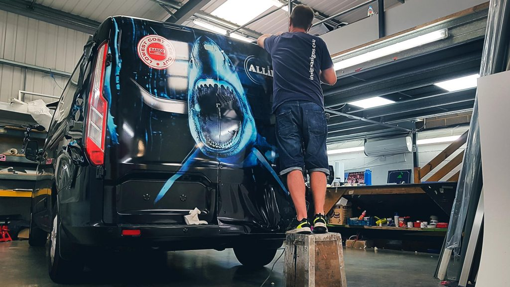Portfolio - Shark Design for Allied Tooling Ltd Van - Vehicle Wrap