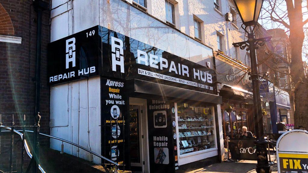 Portfolio - Repair Hub Shop Sign - Signs