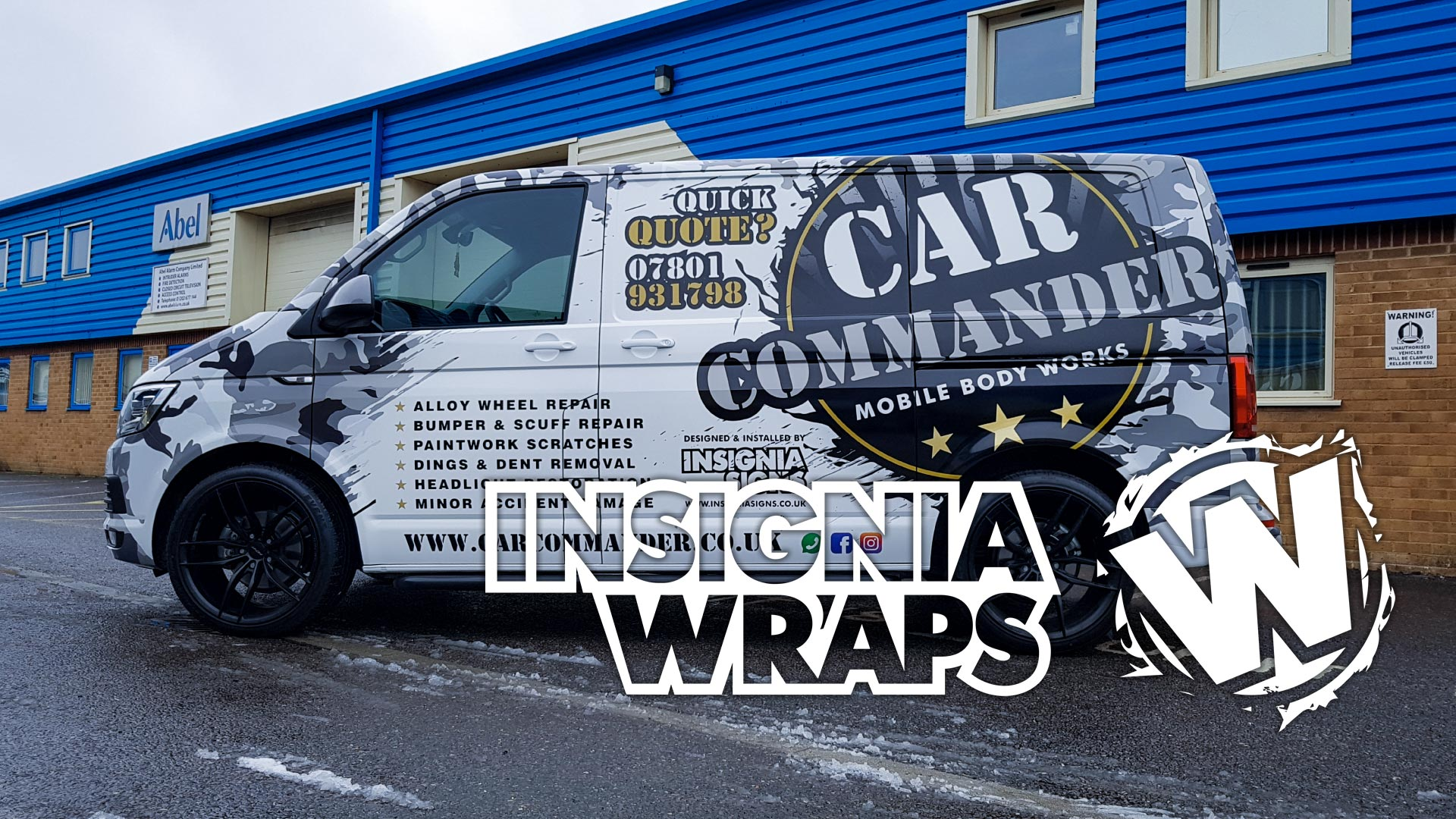 Insignia Wraps - Car Commander Van