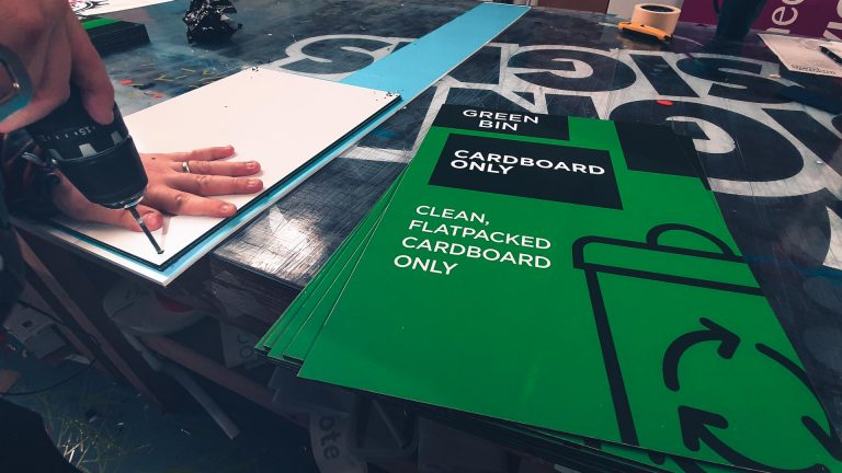 Portfolio - Castlepoint Green Bin Print - Insignia Signs