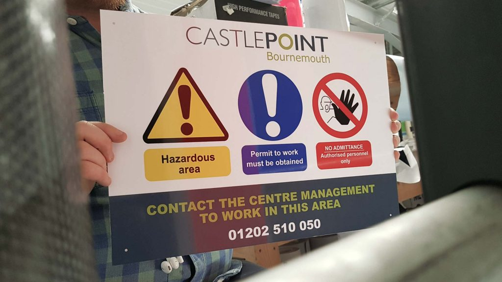 Portfolio - Castlepoint No Admittance Sign - Insignia Signs