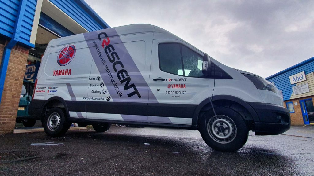 Portfolio - Crescent Motorcycles Van Vehicle Wrap