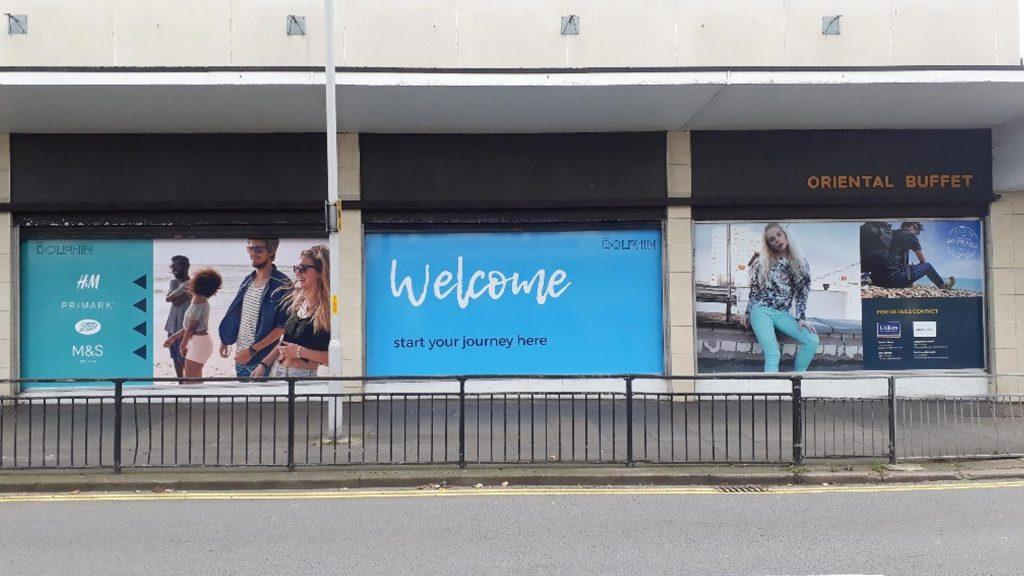 Portfolio - Dolphin Shopping Centre Window Print - Insignia Signs