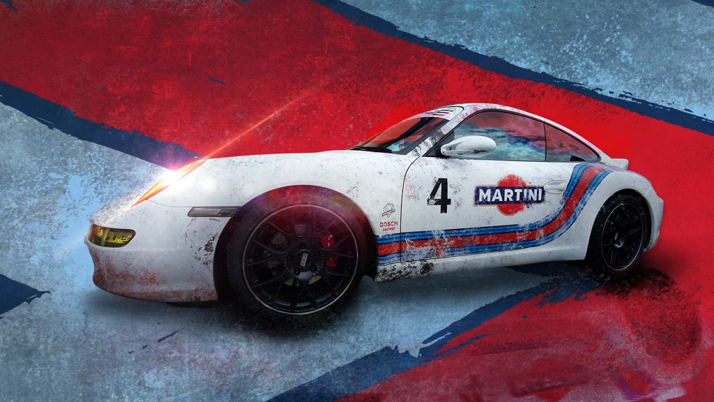 Porsche Martini Race Car Vehicle Wrap by Insignia Signs Poole