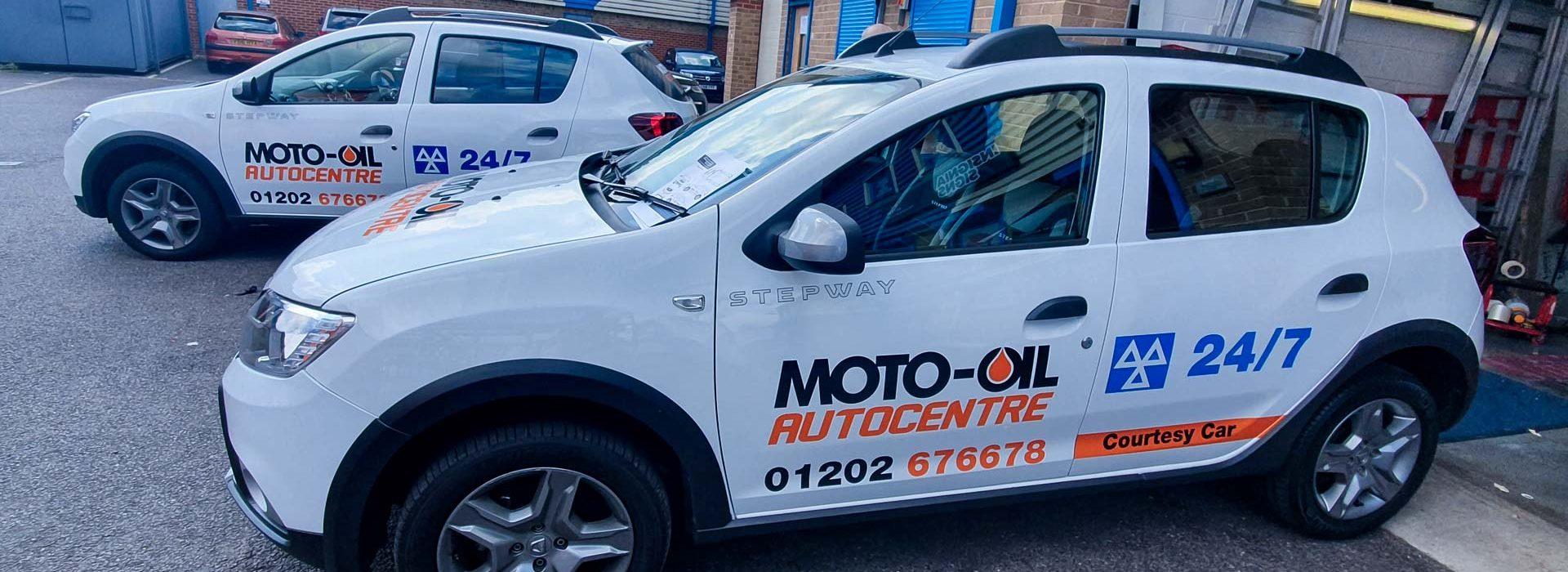 Moto-Oil Autocentre Cars Vehicle Wrap