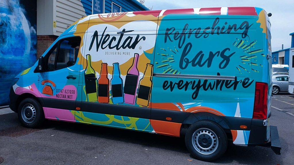 Portfolio - Nectar Imports Ltd Van Vehicle Wrap Side
