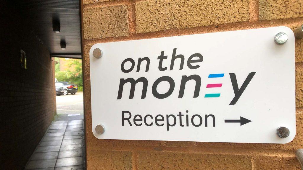 Portfolio - On the Money External Wall Sign