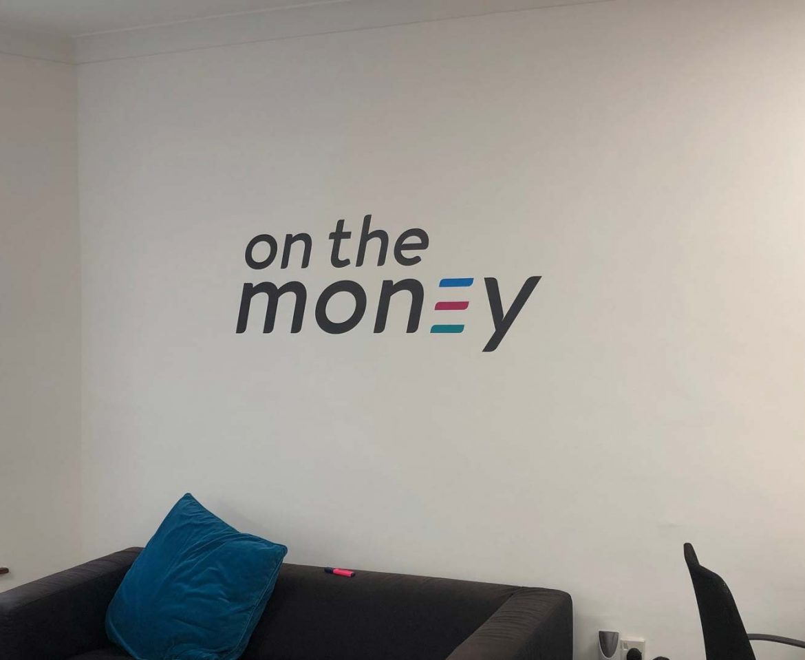 Portfolio - On the Money Wall Graphic