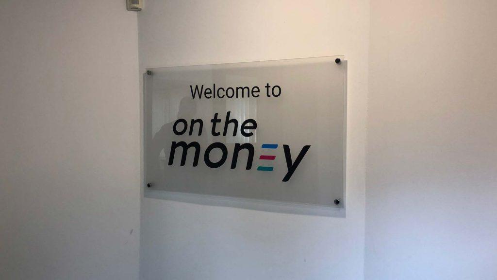 Portfolio - On the Money Wall Sign