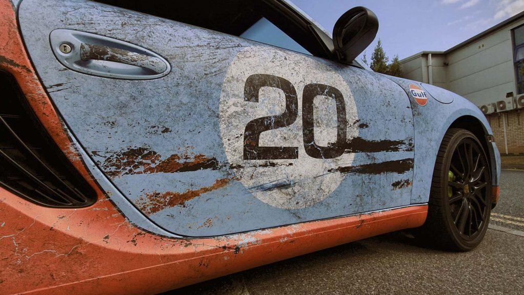 Portfolio - Porsche Gulf Car Vehicle Wrap - Car Door