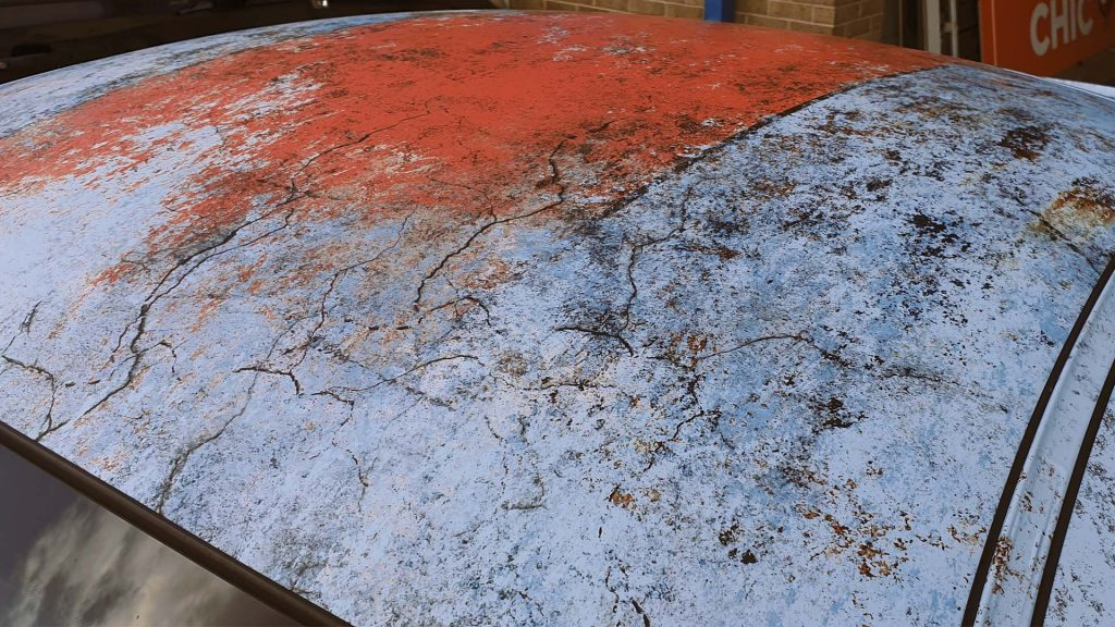 Portfolio - Porsche Gulf Car Vehicle Wrap - Grunge