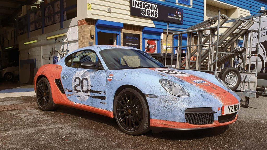 Portfolio - Porsche Gulf Car Vehicle Wrap - Front Side