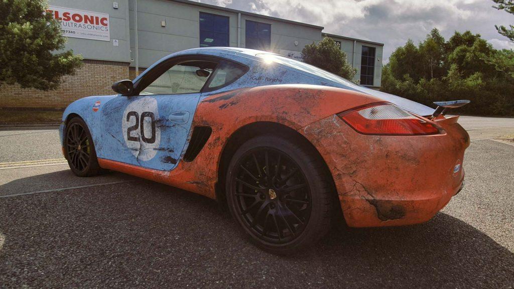 Portfolio - Porsche Gulf Car Vehicle Wrap - Side Back
