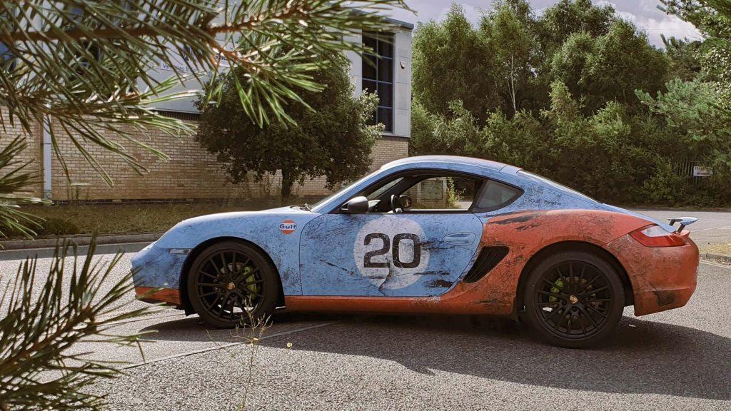 Portfolio - Porsche Gulf Car Vehicle Wrap - Side