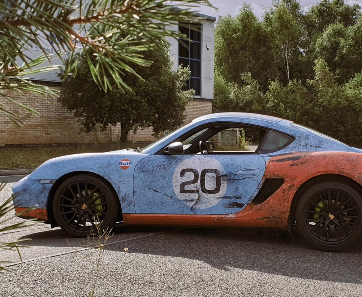 Portfolio - Porsche Gulf Car Vehicle Wrap - Side