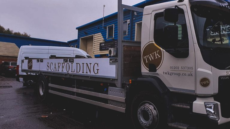 Portfolio - TWK Group Scaffolding Truck Vehicle Wrap - Insignia Signs
