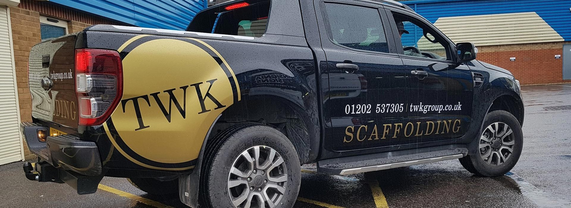 Portfolio - TWK Group Scaffolding Vehicle Wrap - Insignia Signs
