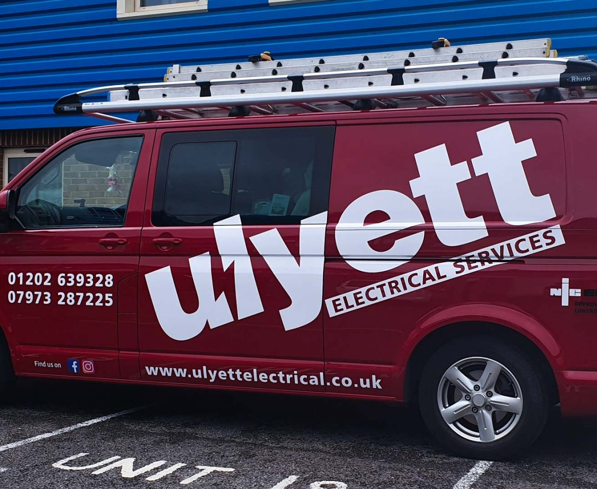 Portfolio - Uylett Electrical Services Van Vehicle Wrap