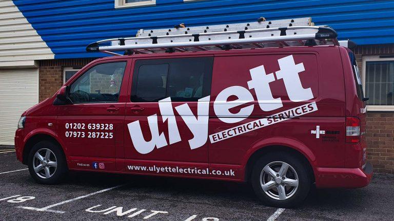 Portfolio - Uylett Electrical Services Van Vehicle Wrap