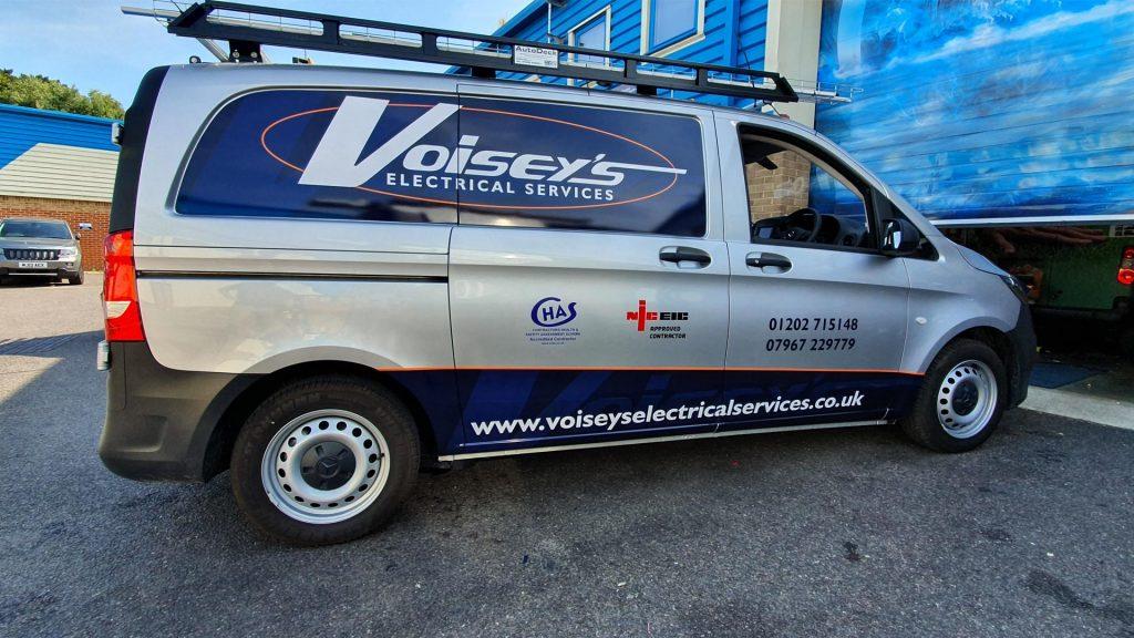 Portfolio - Voiseys Electrical Services Van Vehicle Wrap - Insignia Signs