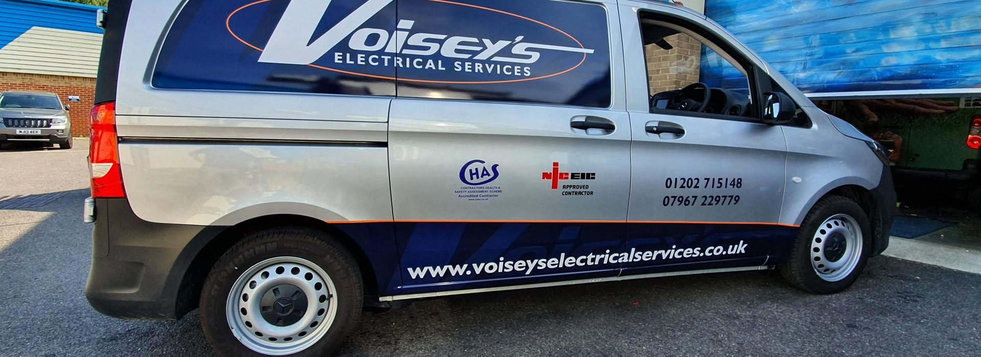 Portfolio - Voiseys Electrical Services Van Vehicle Wrap - Insignia Signs