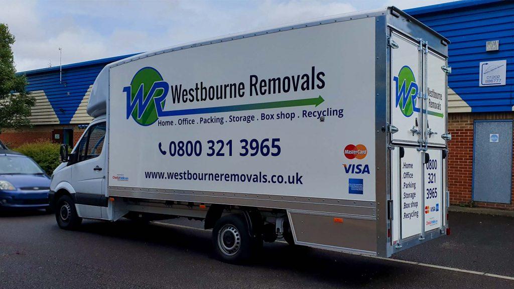Portfolio - Westbourne Removals Van Vehicle Wrap