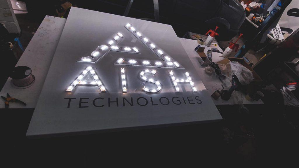 Portfolio - Aish Technologies LED Illuminated Sign - Insignia Signs
