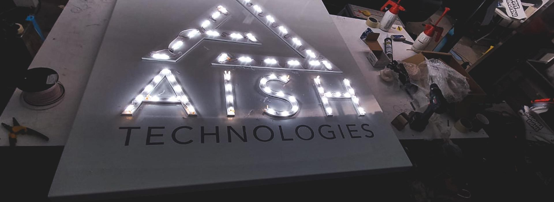 Portfolio - Aish Technologies LED Illuminated Sign - Insignia Signs