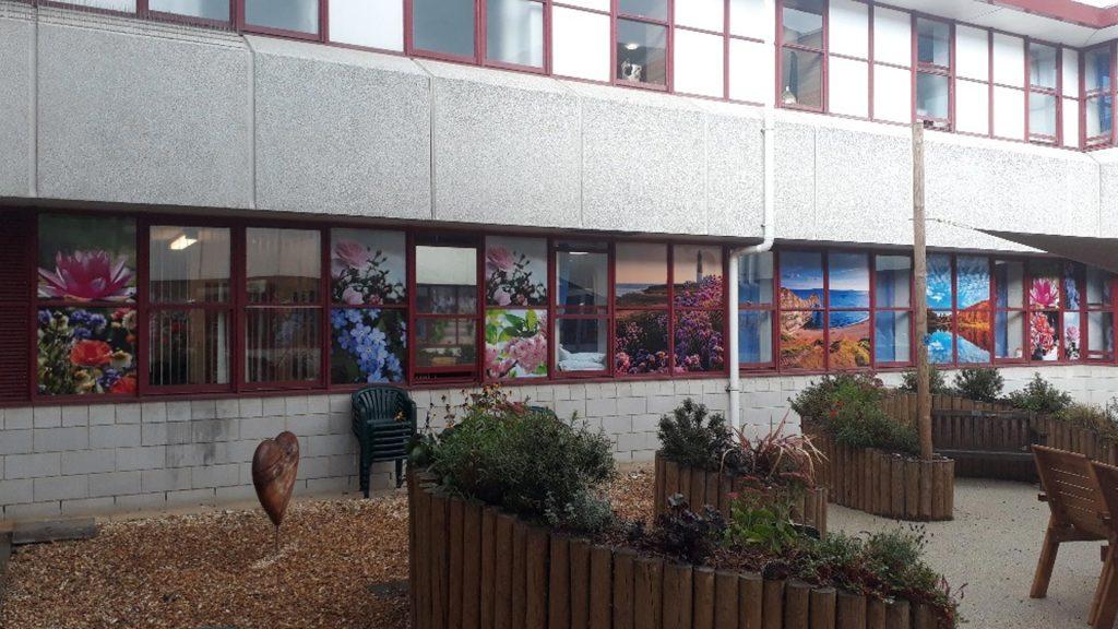 Portfolio - Bournemouth Hospital Flower Window Prints - Insignia Signs