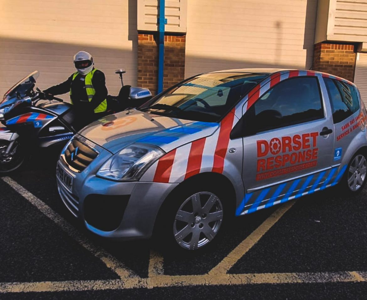 Portfolio - Dorset Response Car and Motorbike Wrap - Insignia Signs