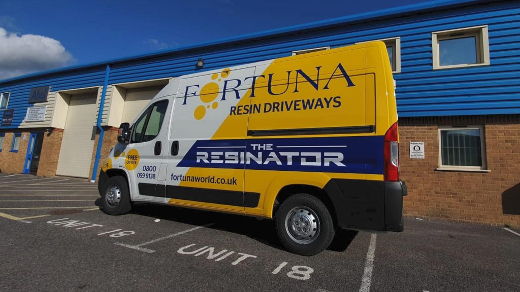 Portfolio - Fortuna World Van Wrap - Insignia Signs