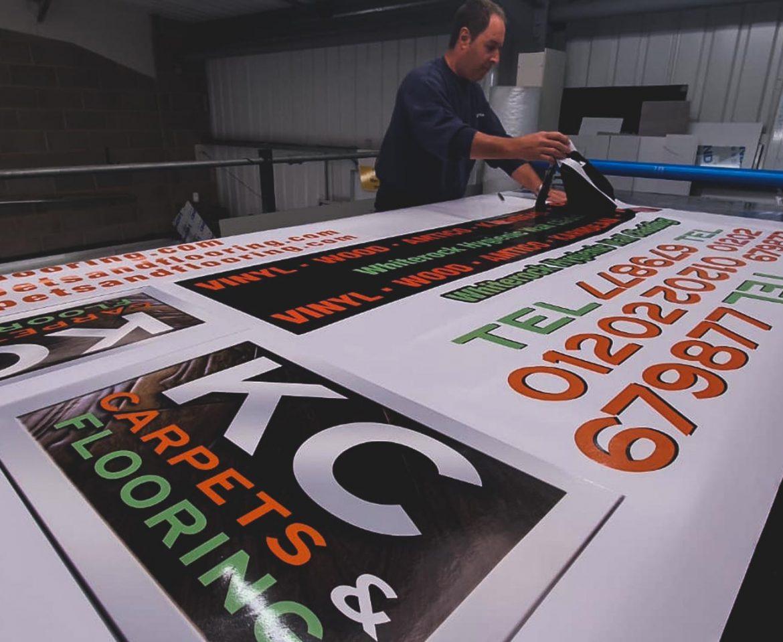 Portfolio - KC Carpets & Flooring Print - Insignia Signs