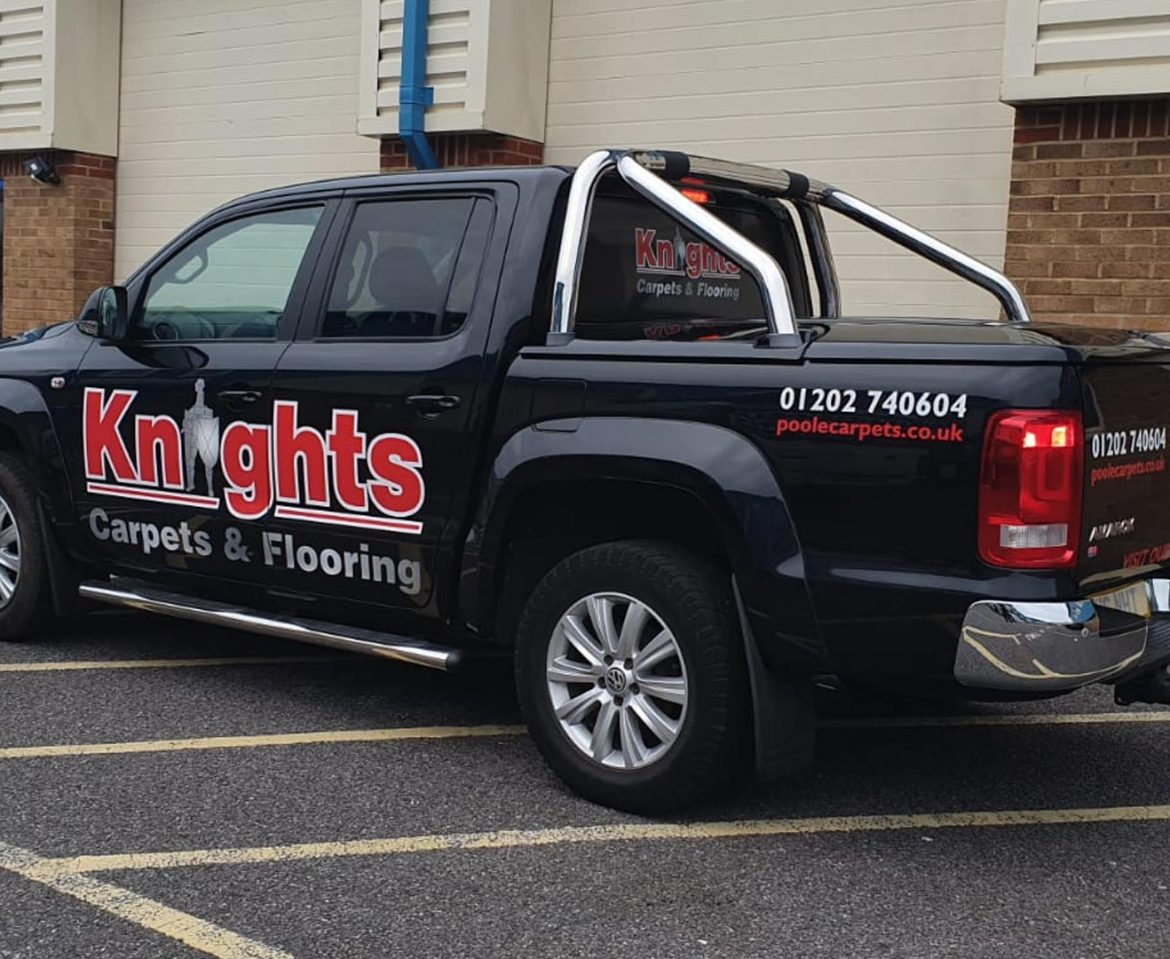 Portfolio - Knights Carpets and Flooring Van Wrap - Insignia Signs