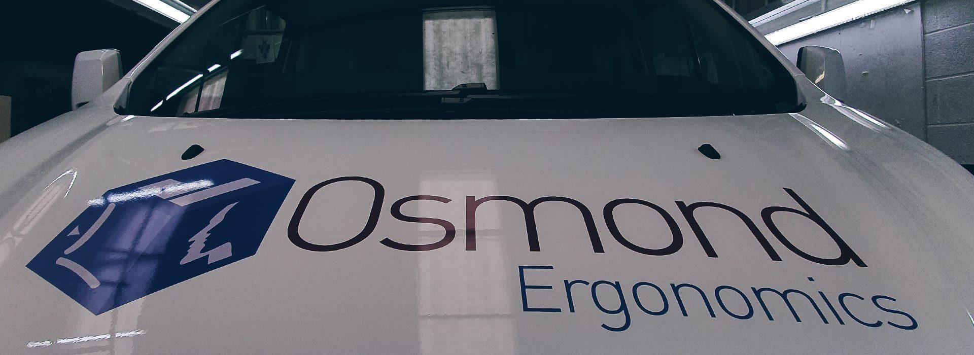 Portfolio - Osmond Ergonomics Van Wrap Bonnet - Insignia Signs