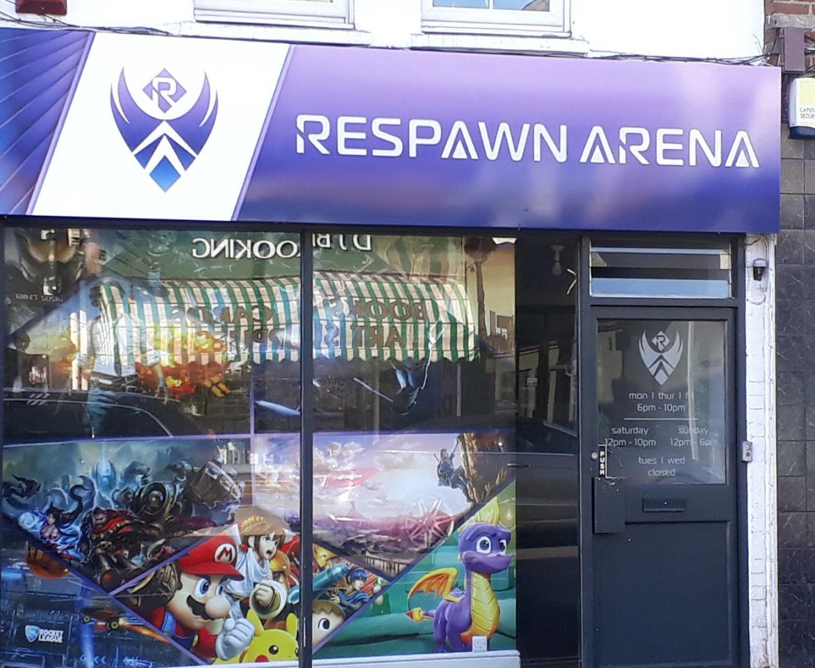 Portfolio - Respawn Arena Shop Sign - Insignia Signs