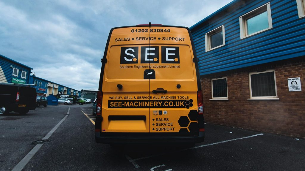 Portfolio - Southern Engineering Equipment Ltd Back of Van Wrap - Insignia Signs